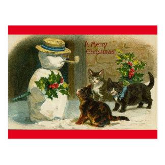 Carte postale vintage de Joyeux Noël d'homme de