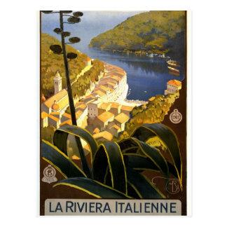 Carte postale vintage de la Riviera d'Italien