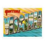 Carte postale vintage de la Virginie
