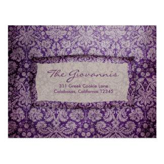 Carte postale vintage de l'enchantement pourpre