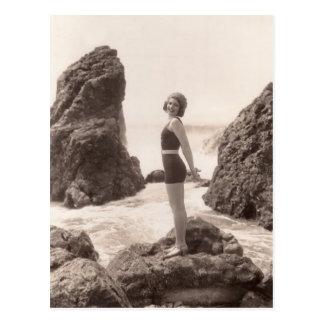Carte postale vintage de maillots de bain -