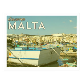 Carte postale vintage de Malte