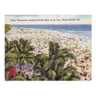 Carte postale vintage de Miami Beach la Floride