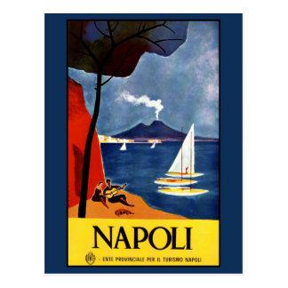 Carte postale vintage de Napoli (Naples) Italie