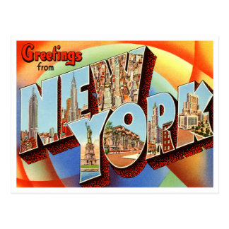 Carte postale vintage de New York