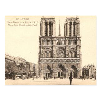 Carte postale vintage de Notre Dame à Paris