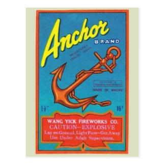 Carte postale vintage de paquet de pétard