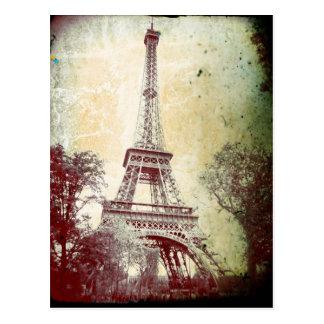 Carte postale vintage de Paris de style, Tour