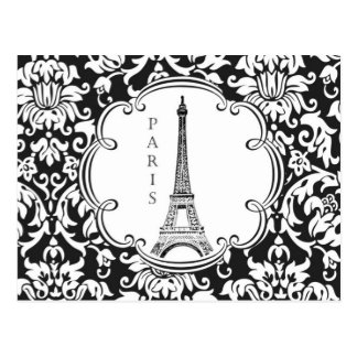 Carte postale vintage de Paris de Tour Eiffel