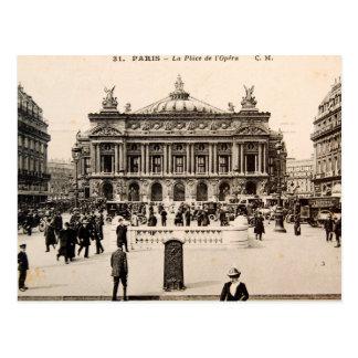 Carte postale vintage de Paris, le théatre de