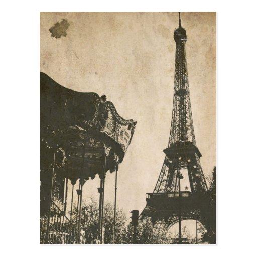 Carte postale vintage de Paris, Tour Eiffel