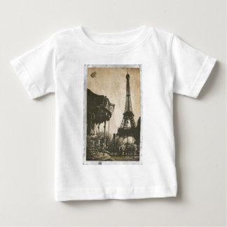 Carte postale vintage de Paris, Tour Eiffel T-shirt Pour Bébé