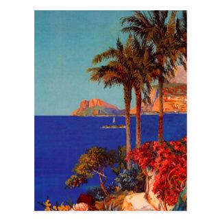Carte postale vintage de paysage d'Antibes Cote