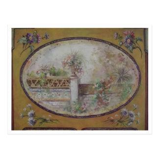 Carte postale vintage de peinture de jardin