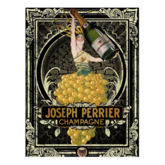 Carte postale vintage de Perrier Champagne