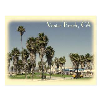 Carte postale vintage de plage de Venise de style
