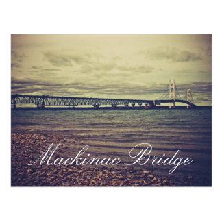 Carte postale vintage de pont de Mackinac