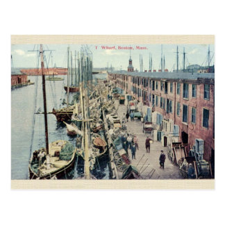 Carte postale vintage de quai de Boston