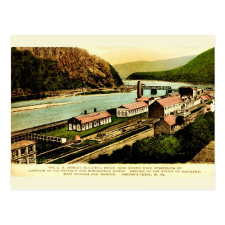 Carte postale vintage de reproduction d'arsenal de