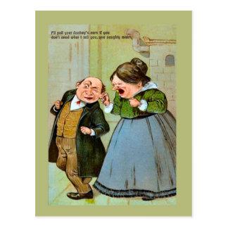 Carte postale vintage de reproduction, humeur,