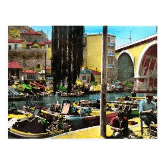 Carte postale vintage de reproduction, Marseille,