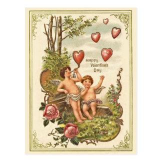Carte postale vintage de Saint-Valentin