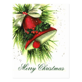 Carte postale vintage de salutations de Noël