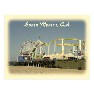 Carte postale vintage de Santa Monica de style !