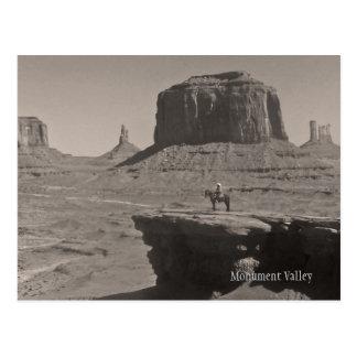 Carte postale vintage de souvenir de cowboy de