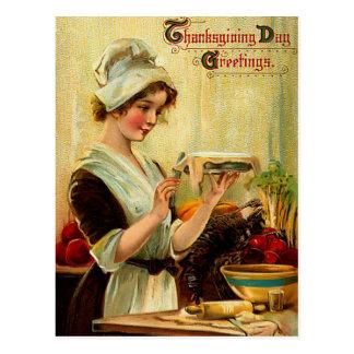 Carte postale vintage de thanksgiving