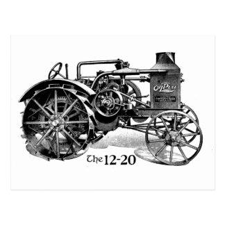 Carte postale vintage de tracteur