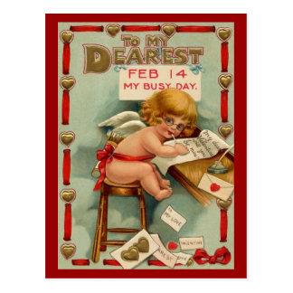 Carte postale vintage de Valentine