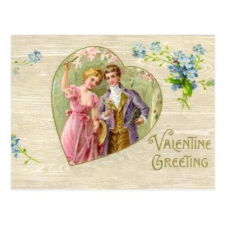 Carte postale vintage de Valentine d'amoureux