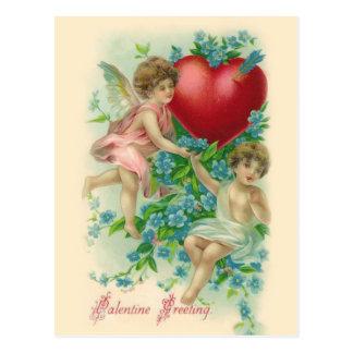Carte postale vintage de Valentine d'anges