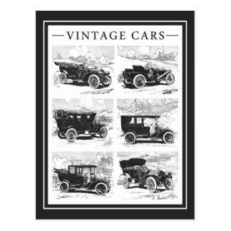 Carte postale vintage de voitures