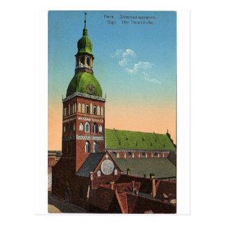 Carte postale vintage de voyage de cathédrale de