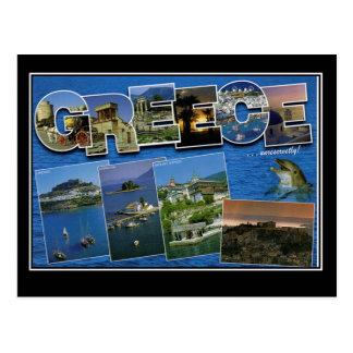 Carte postale vintage de voyage de la Grèce