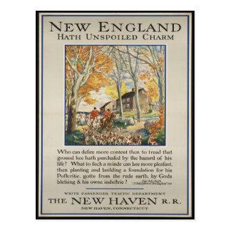 Carte postale vintage de voyage de la Nouvelle