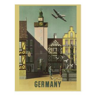 Carte postale vintage de voyage de l'ALLEMAGNE