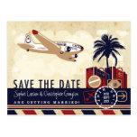 Carte postale vintage de voyage de ligne aérienne