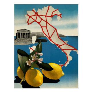 Carte postale vintage de voyage de l'Italie
