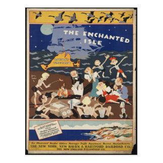 Carte postale vintage de voyage de Martha's