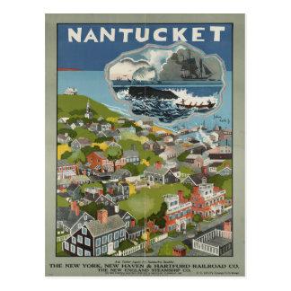 Carte postale vintage de voyage de Nantucket