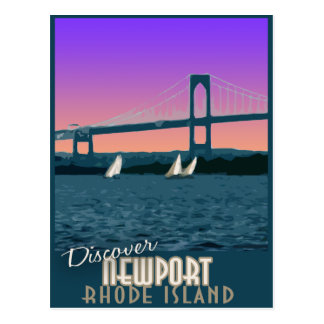 Carte postale vintage de voyage de Newport Île de
