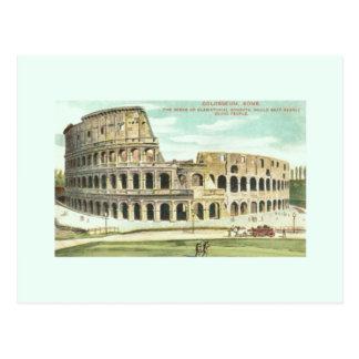 Carte postale vintage de voyage de Rome Colosseum