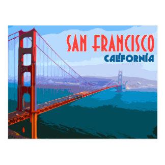 Carte postale vintage de voyage de San Francisco