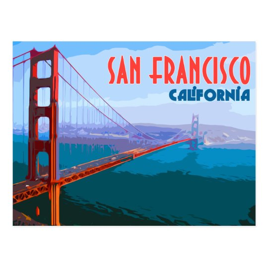 Carte Postale Vintage De Voyage De San Francisco Zazzle Fr