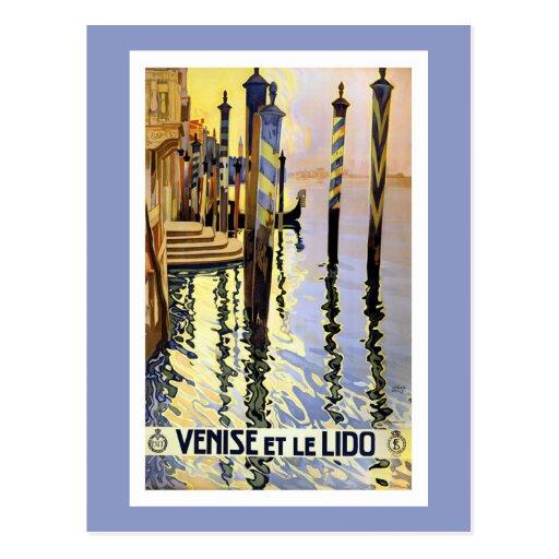 Carte postale vintage de voyage de Venise Italie