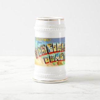 Carte postale vintage de voyage de Virginia Beach Chope À Bière