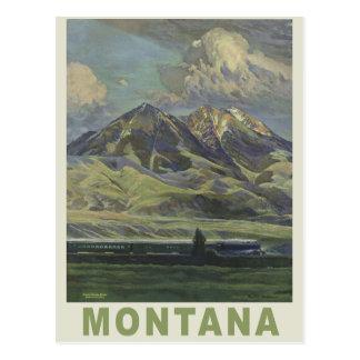 Carte postale vintage de voyage du Montana